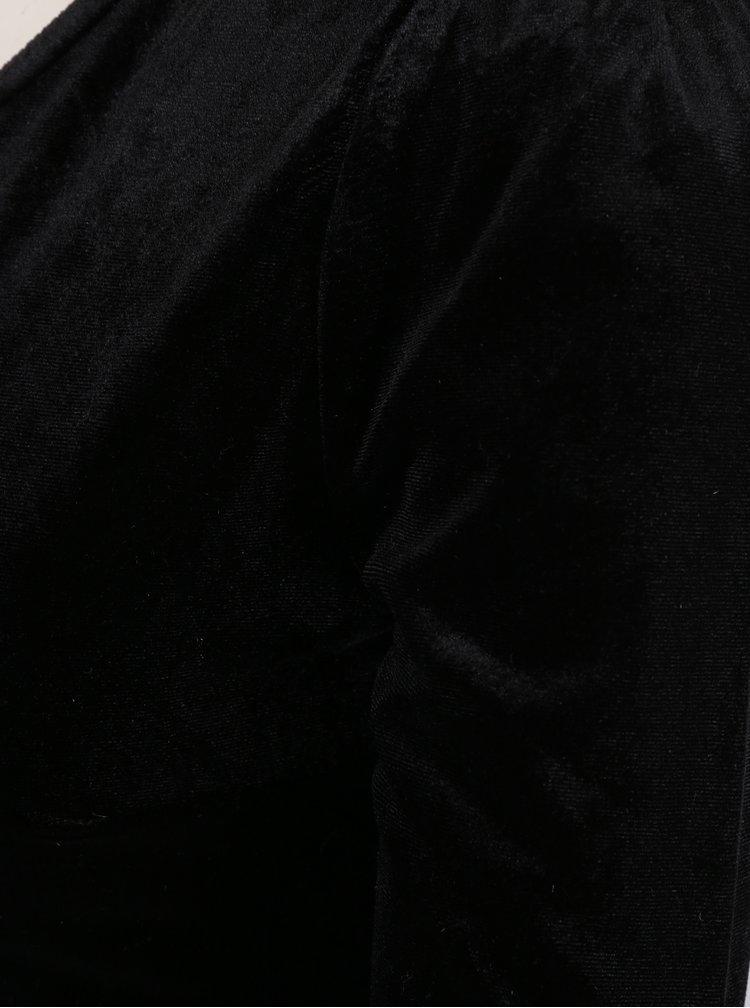Černé sametové šaty přes jedno rameno TALLY WEiJL