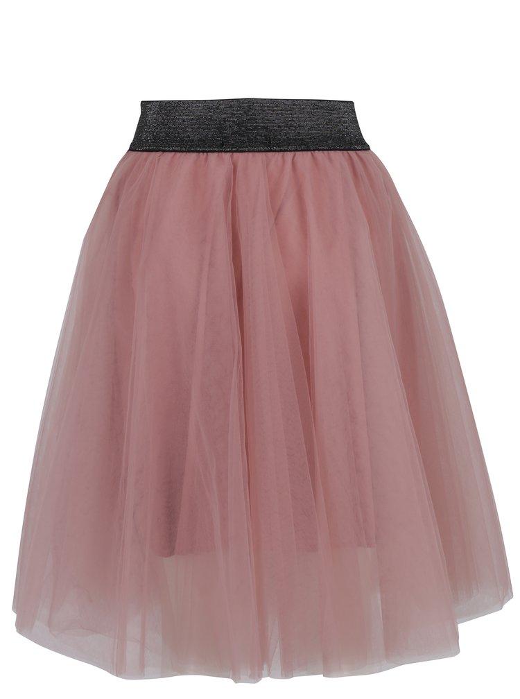 Starorůžová áčková tylová sukně TALLY WEiJL