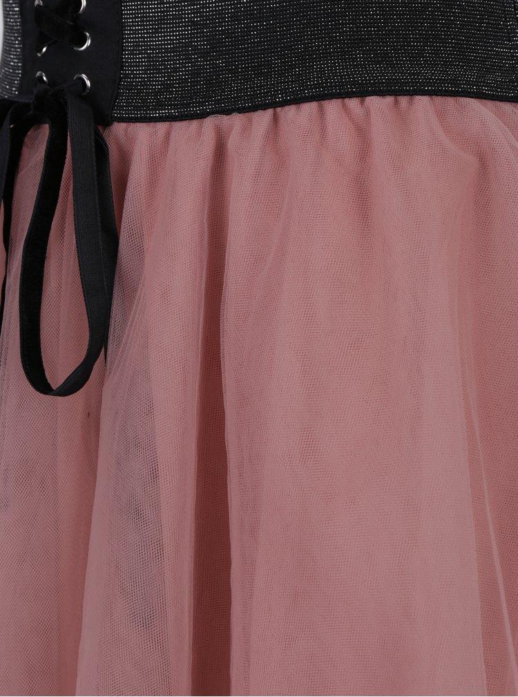 Fusta roz prafuit din tul cu talie elastica TALLY WEiJL