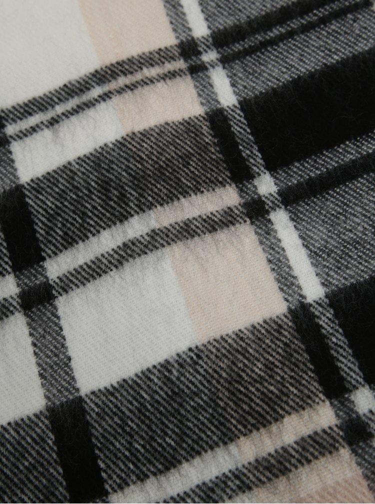 Bílo-černá kostkovaná šála Miss Selfridge