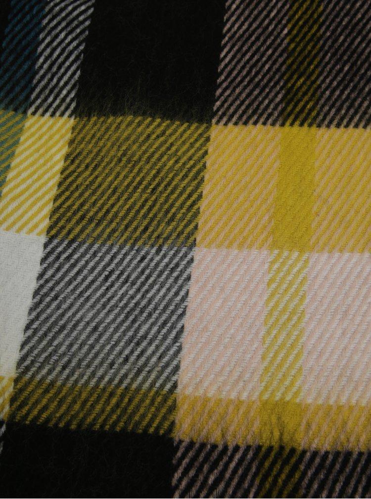 Žluto-černá kostkovaná šála Miss Selfridge