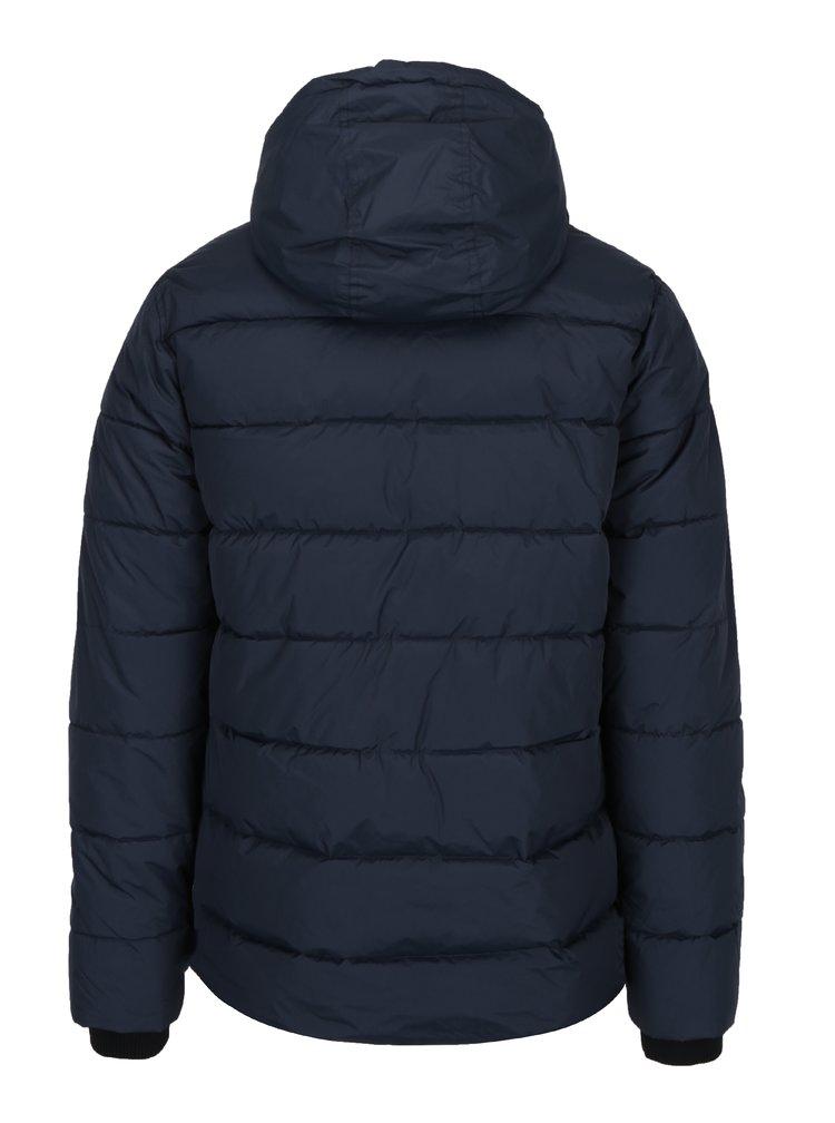 Modrá prošívaná bunda s kapucí Burton Menswear London