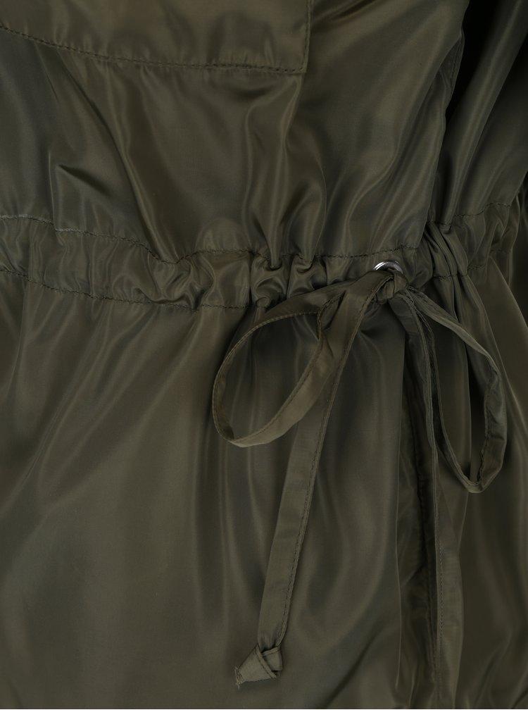 Khaki lehká bunda se stahováním v pase Noisy May Cagi