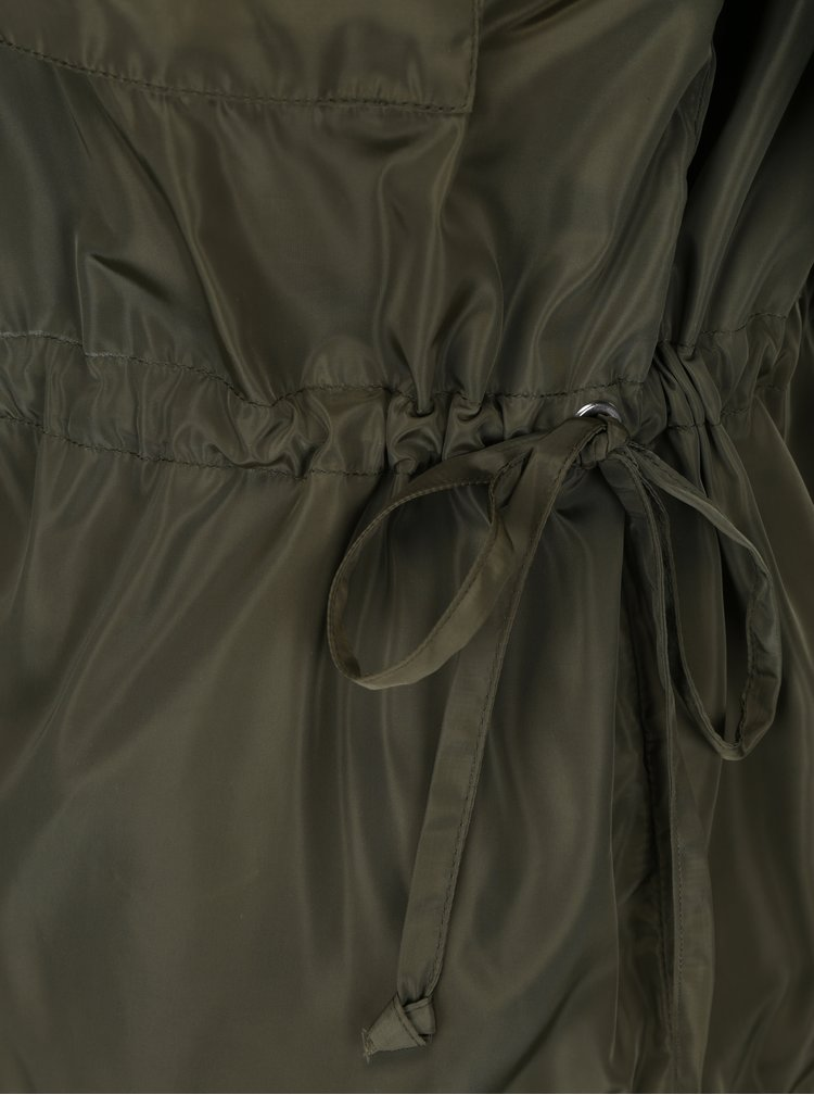 Jacheta kaki cu snur ajustabil in talie - Noisy May Cagi