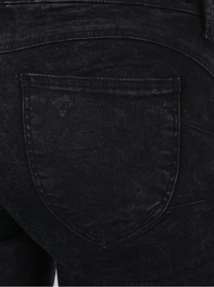 Tmavě šedé žíhané push up skinny džíny TALLY WEiJL