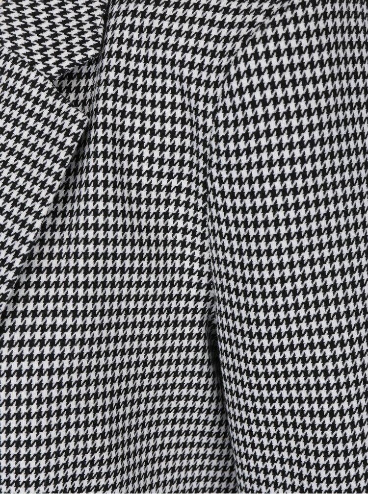 Bílo-černé vzorované sako Miss Selfridge