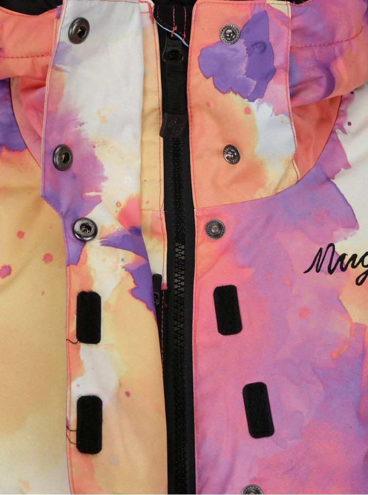 Geaca portocalie impermeabila cu print watercolor  NUGGET Spotty