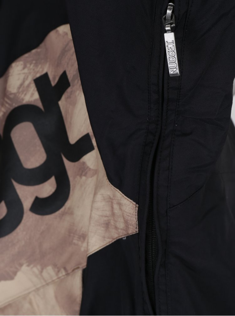 Geaca neagra impermeabila pentru barbati NUGGET Challenger