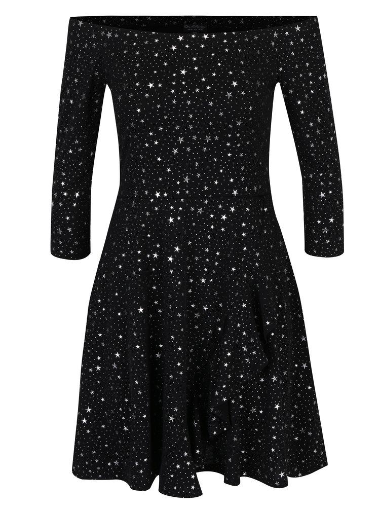 Šaty s odhalenými rameny a motivem hvězd Miss Selfridge