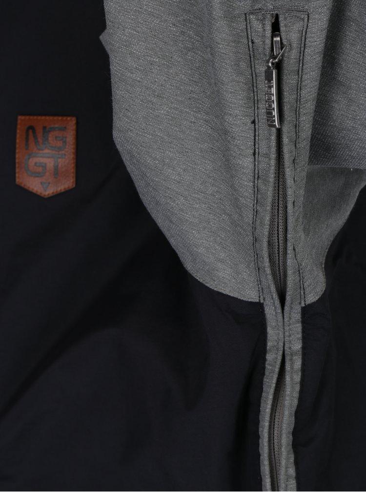 Geaca de iarna gri&negru impermeabila pentru barbati NUGGET Scaral