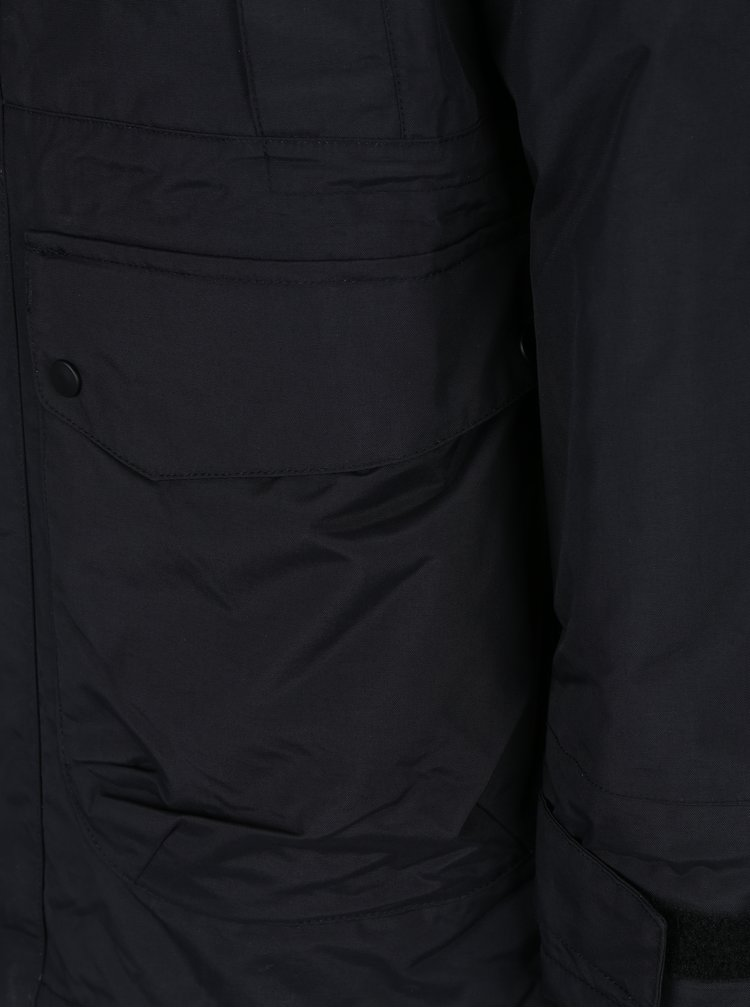 Geaca parka neagra impermeabila pentru barbati  NUGGET Enforcer