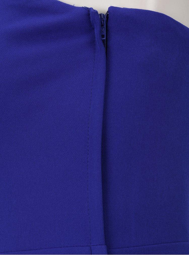 Modrý korzetový overal s průstřihy Miss Selfridge