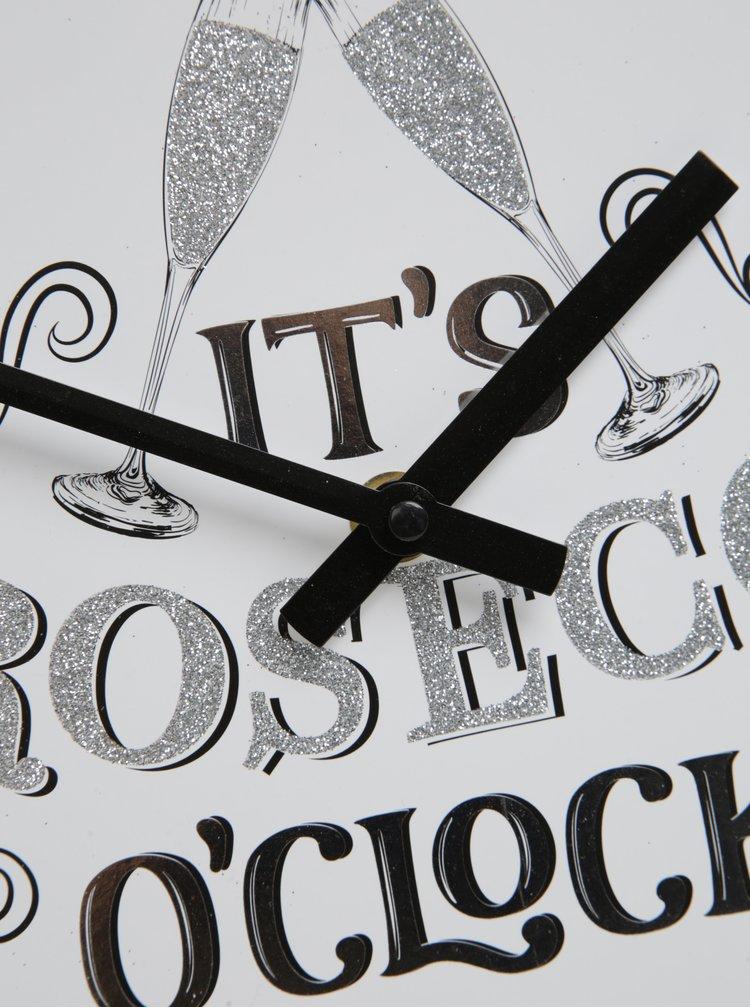 Nástěnné hodiny v krémové a stříbrné barvě PROSECCO SIFCON