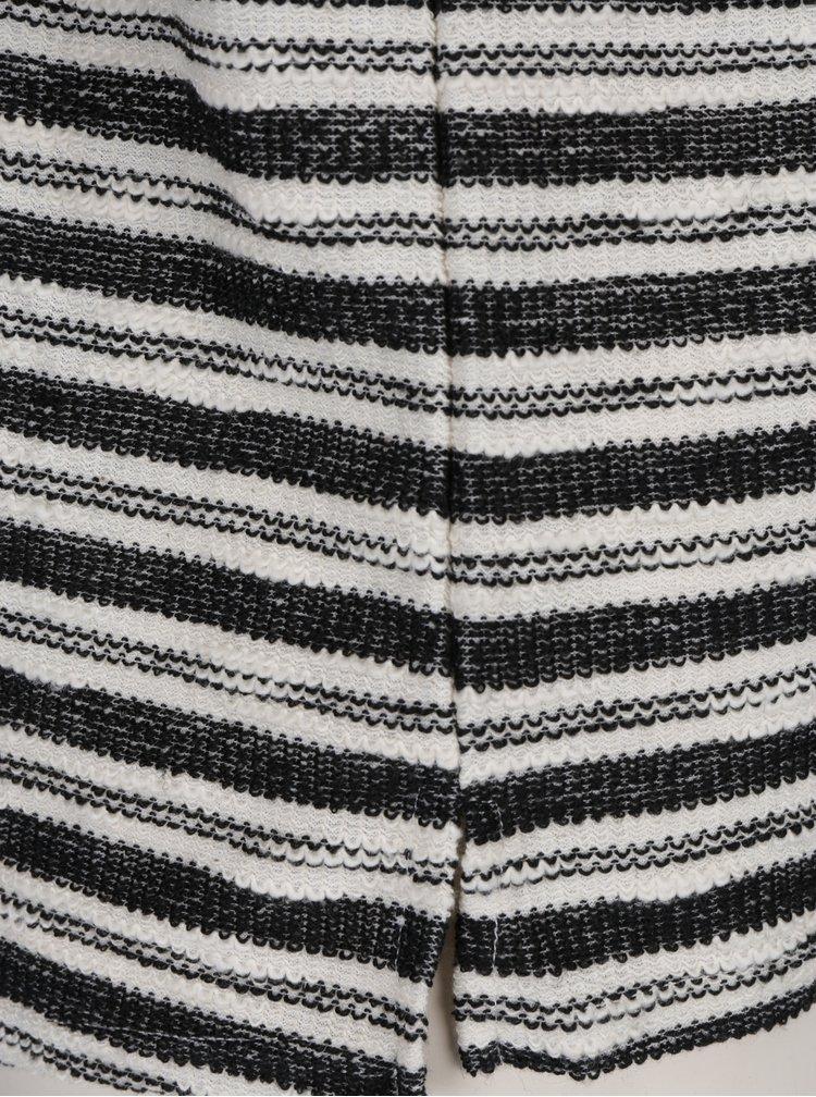 Černé pruhované tričko s dlouhým rukávem Haily´s Enni