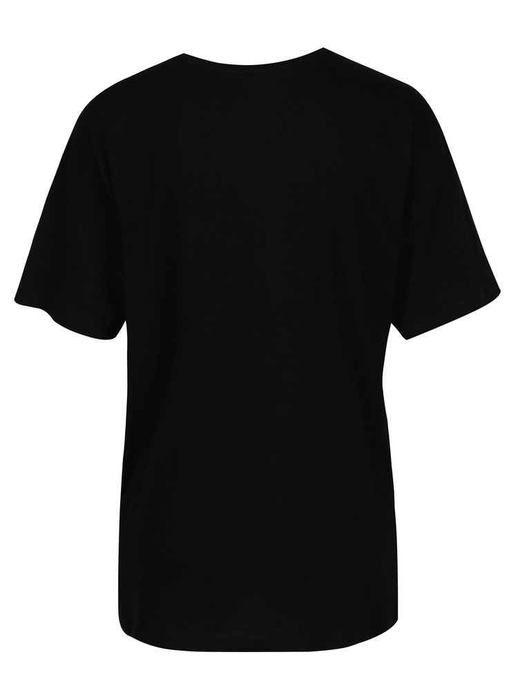 Černé tričko s krátkým rukávem ONLY Mickey
