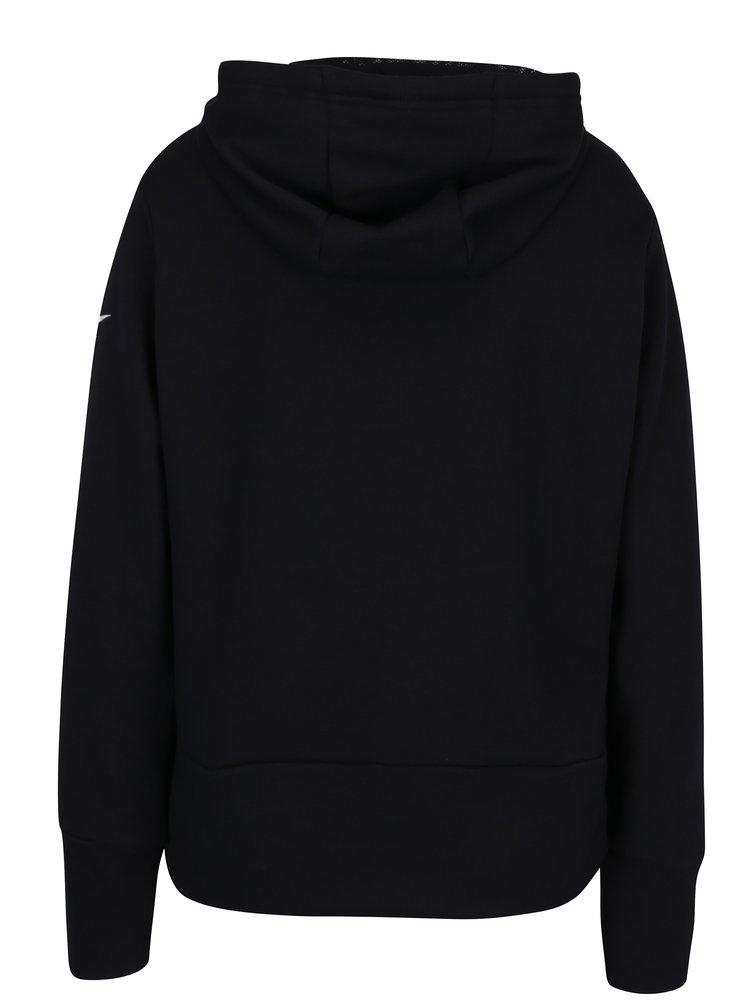 Černá dámská mikina s potiskem Nike Dry Hoodie