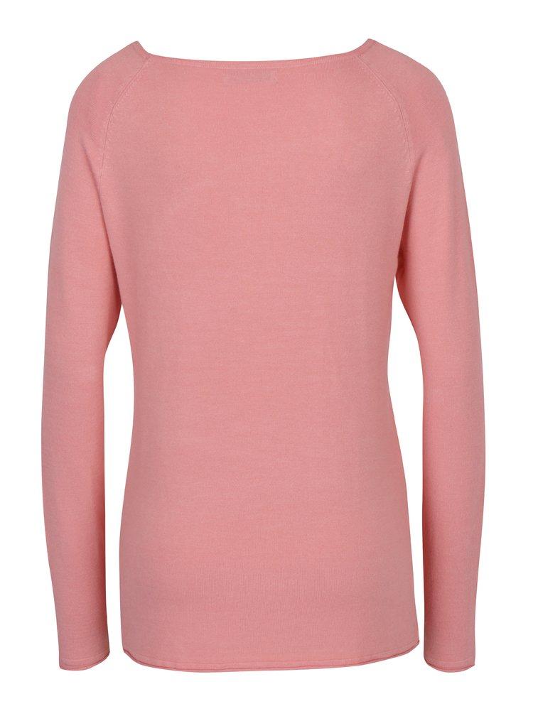 Pulover roz subtire cu maneci raglan -  Haily´s Stella