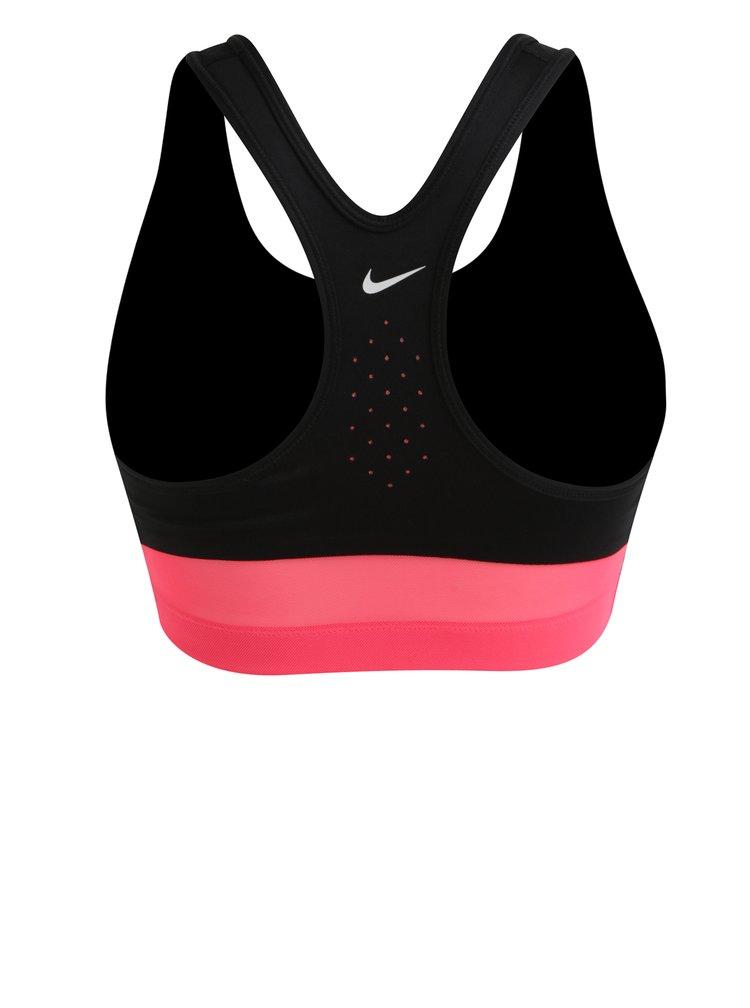Černá dámská sportovní podprsenka s potiskem Nike Classic Swoosh Cooling