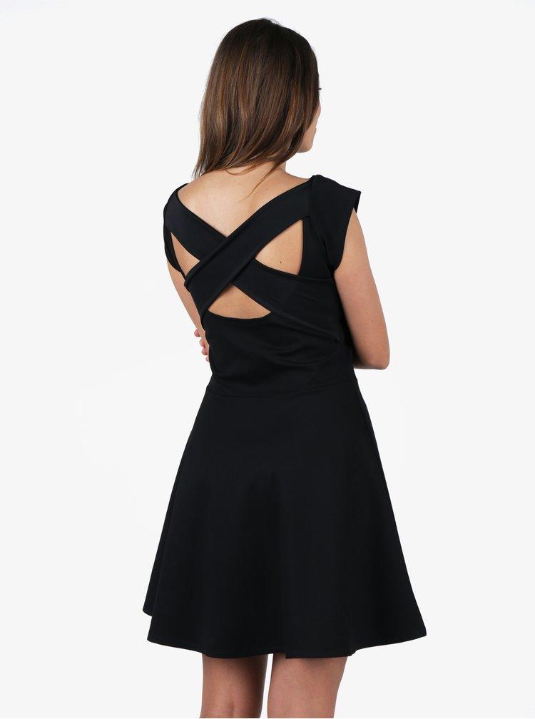 Rochie clos neagra cu barete incrucisate la spate ZOOT