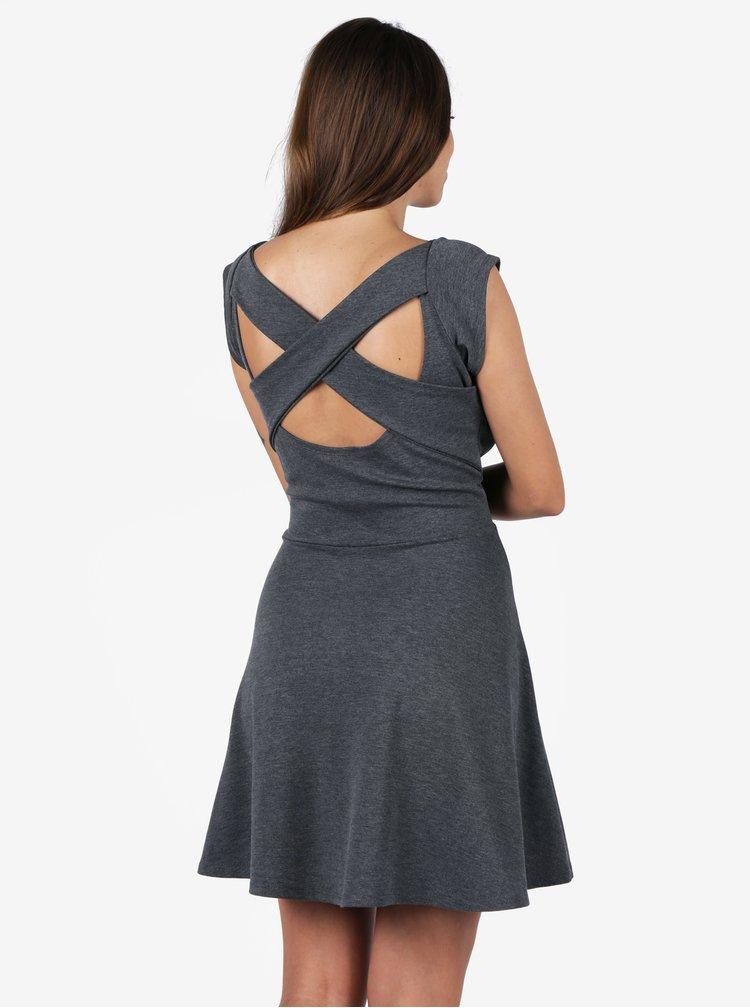 Šedé šaty s pásky na zádech ZOOT