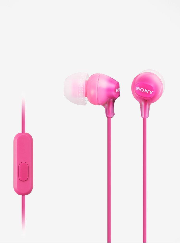 Růžová špuntová sluchátka Sony