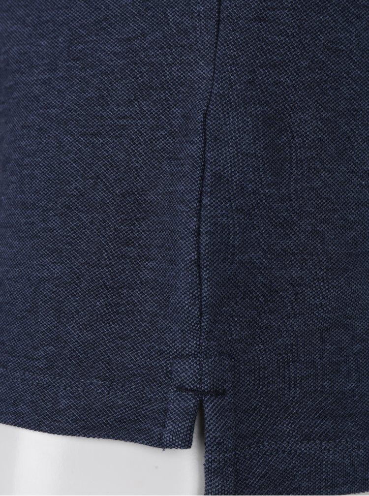 Tricou polo bleumarin melanj - Jack & Jones Paulos