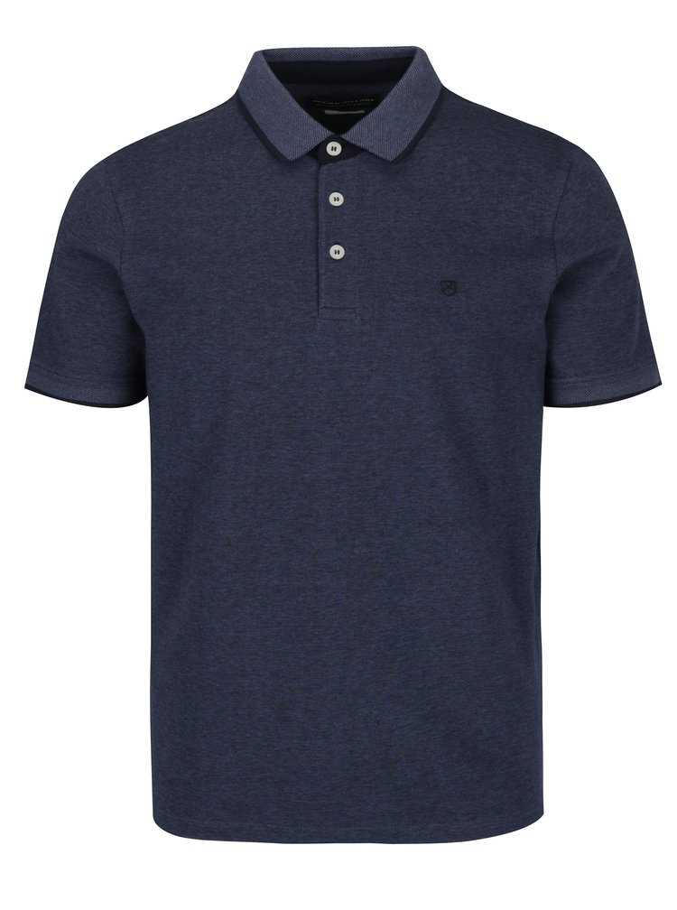 Modré polo tričko Jack & Jones Paulos