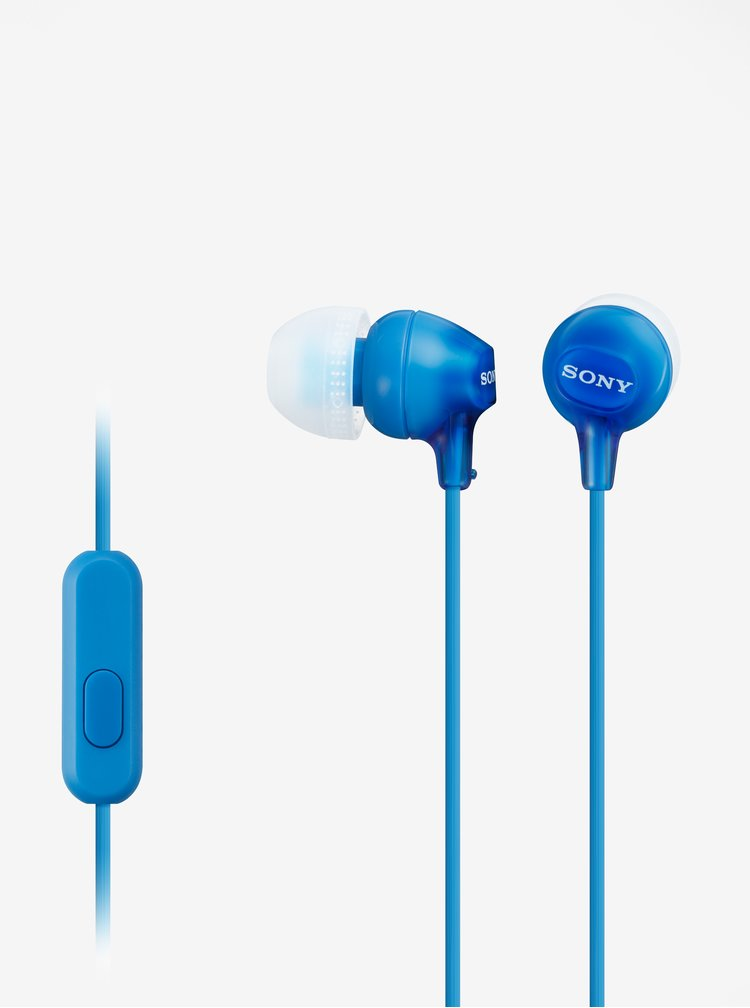 Modrá špuntová sluchátka Sony