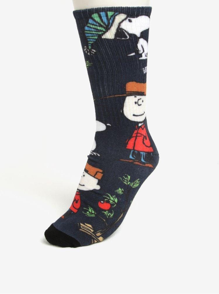 Tmavě modré pánské ponožky s motivem Snoopyho VANS Peanuts