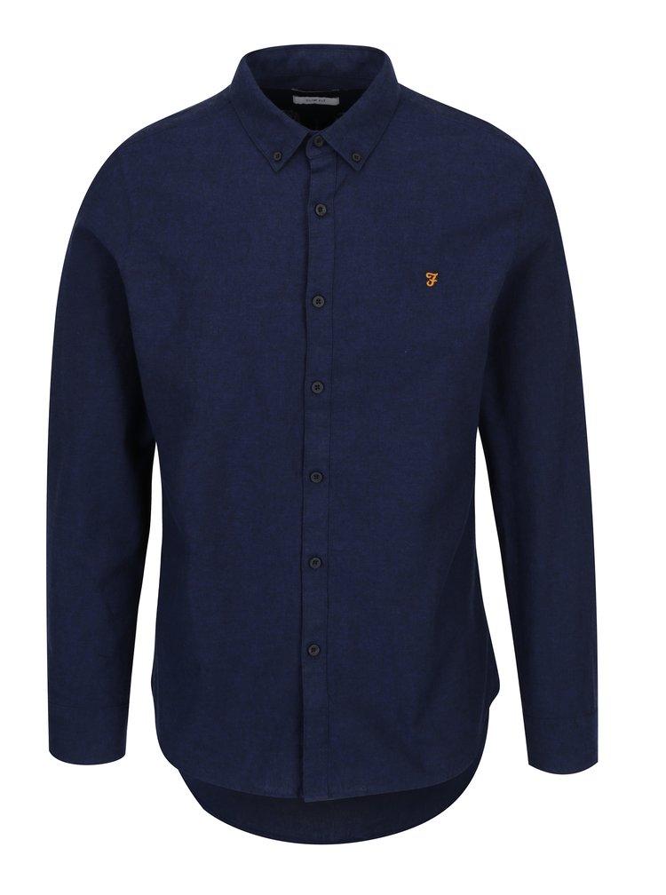 Tmavě modrá slim fit košile Farah Steen