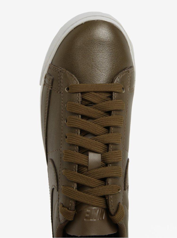 Pantofi sport kaki din piele pentru femei  Nike Blazer Low