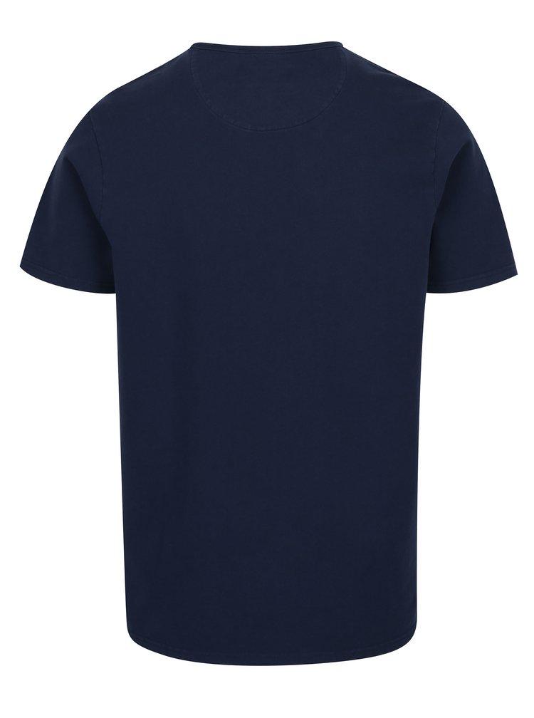 Tmavě modré tričko s náprsní kapsou Farah Fairway