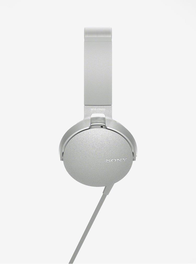Šedá sluchátka s mikrofonem Sony Extra Bass