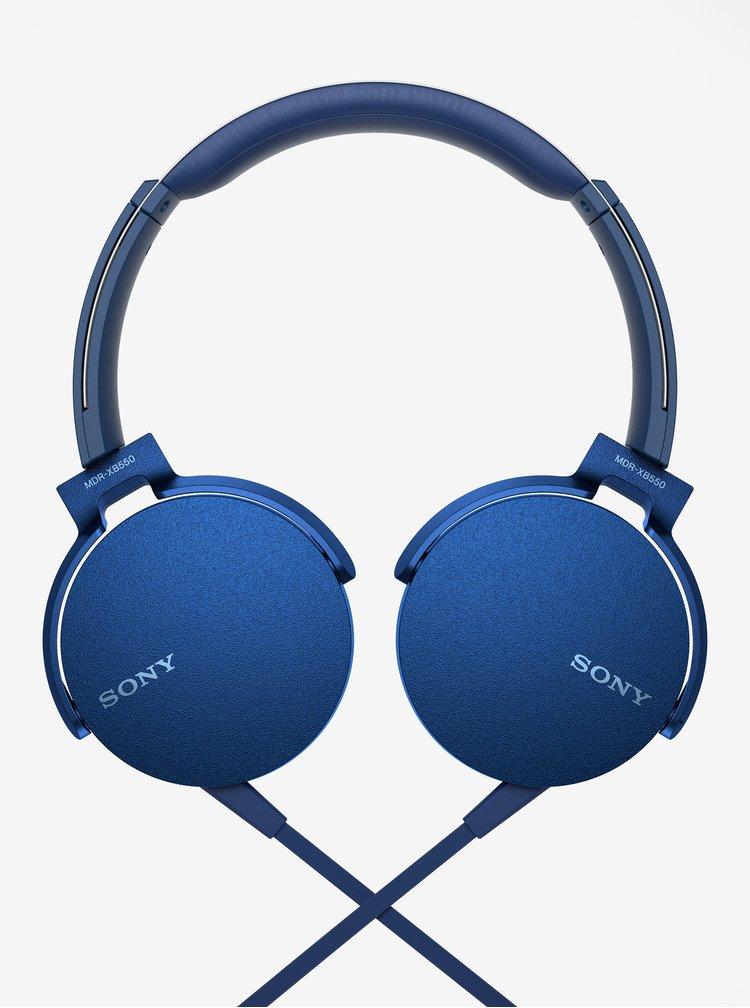 Modrá sluchátka s mikrofonem Sony Extra Bass