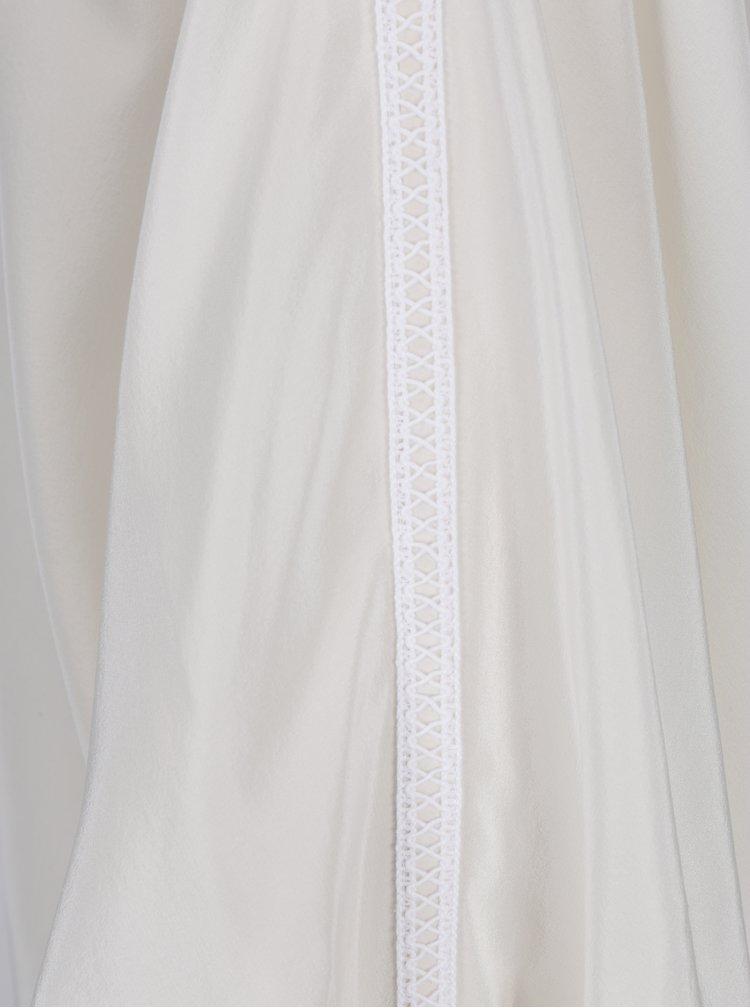 Bluza alb prafuit din matase cu maneci liliac - Alexandra Ghiorghie Berin