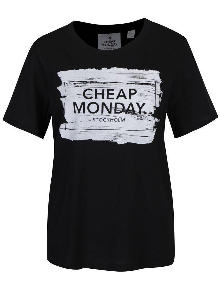 Černé dámské tričko s potiskem Cheap Monday