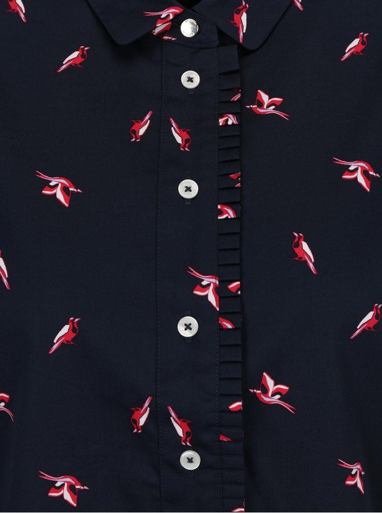Tmavě modrá košile s ptáky Tommy Hilfiger Jannie