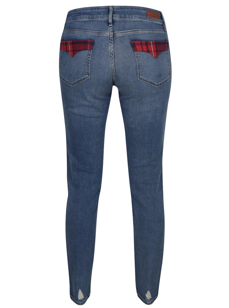 Modré dámské skinny džíny s nízkým pasem Tommy Hilfiger Venice