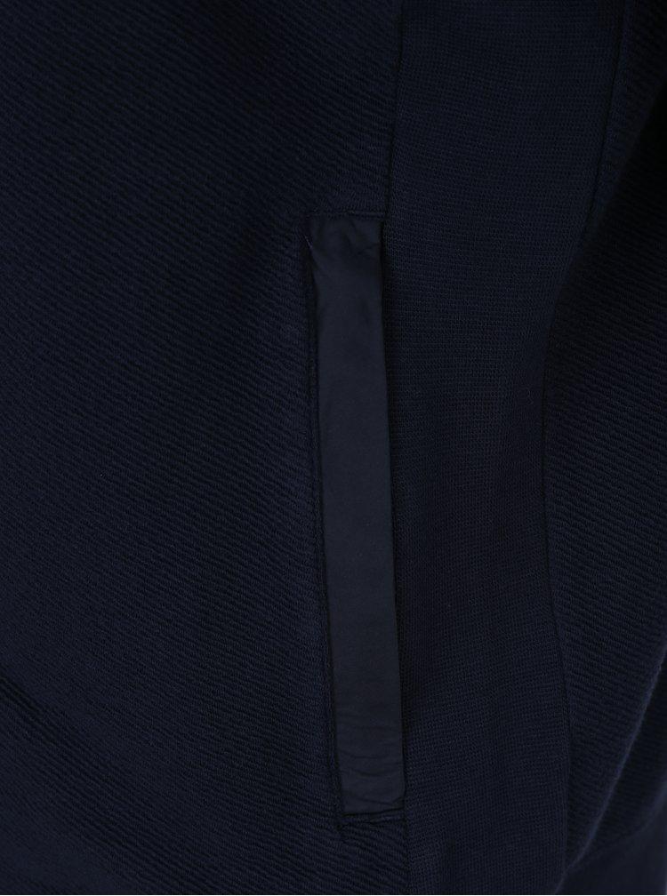 Tmavě modrá pánská mikina na zip Tommy Hilfiger Baxter