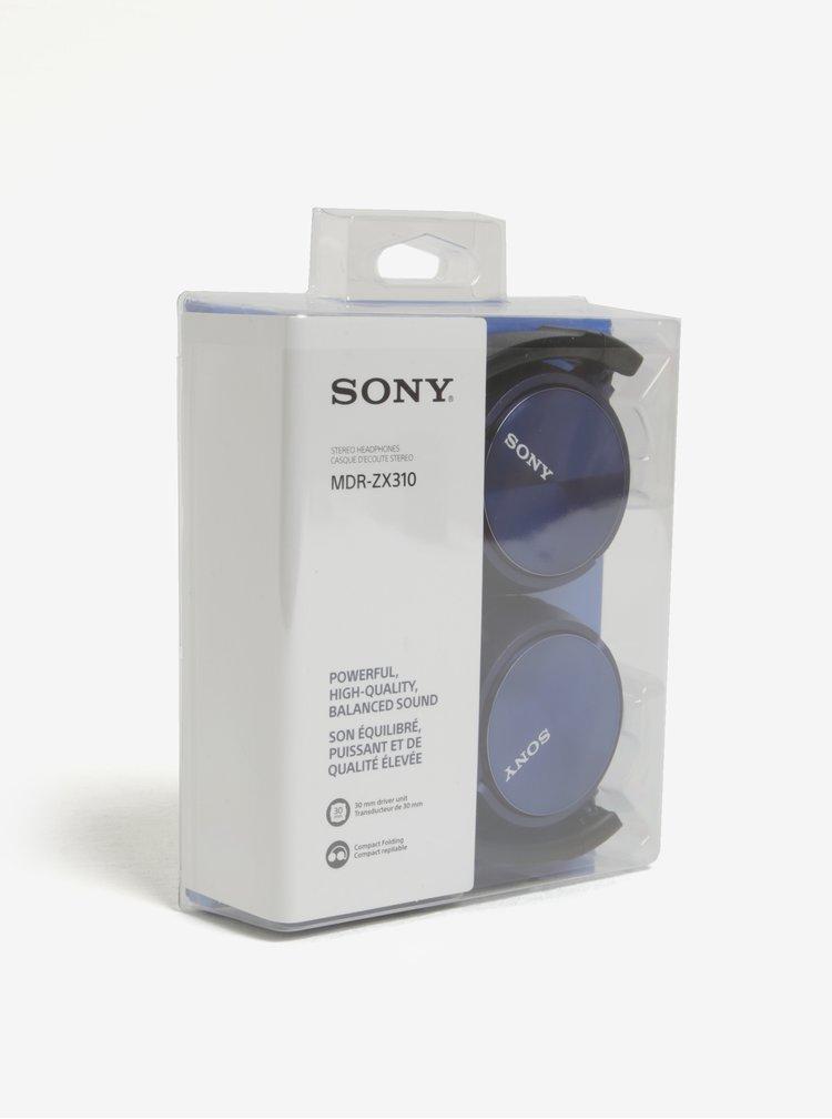 Modrá skládací sluchátka Sony