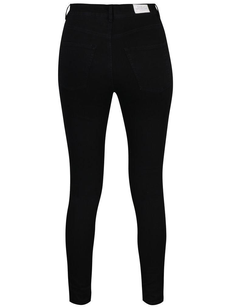 Černé super skinny džíny s vysokým pasem Cheap Monday