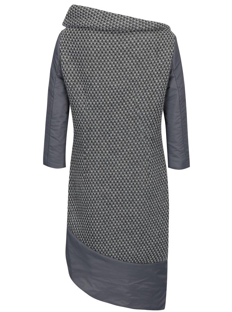 Rochie pulover gri asimetrica - Alexandra Ghiorghie Moroza