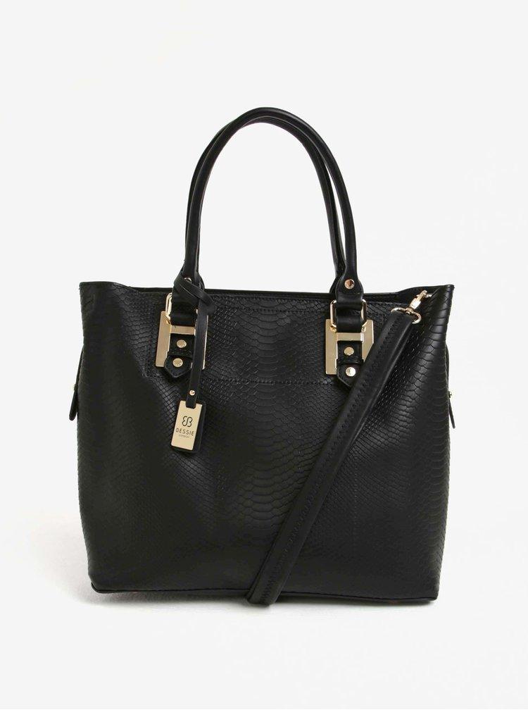 Černý shopper s crossbody kabelkou 2v1 Bessie London