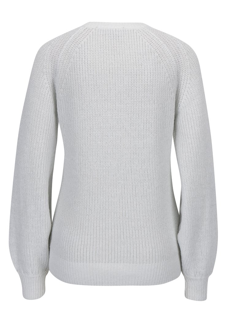 Krémový třpytivý zimní svetr Dorothy Perkins