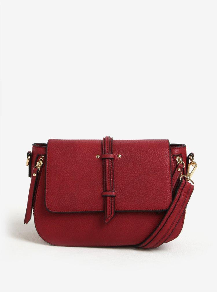 Červená crossbody kabelka s jemným vzorom Bessie London