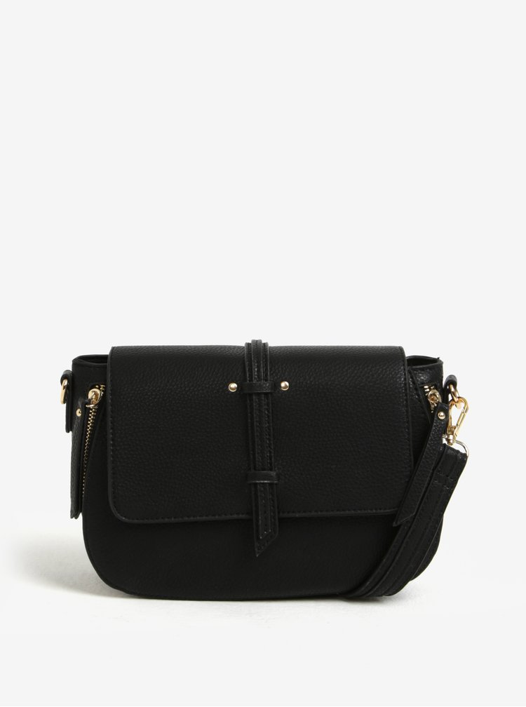 Černá crossbody kabelka s jemným vzorem Bessie London