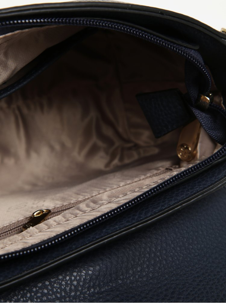 Tmavě modrá crossbody kabelka s jemným vzorem Bessie London