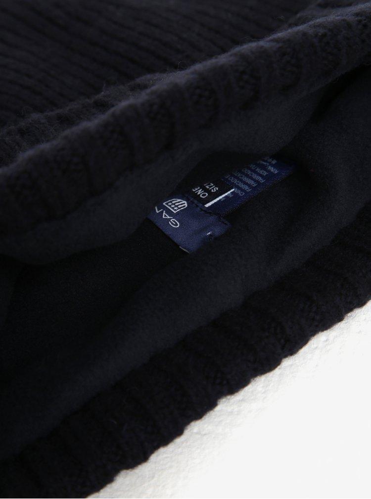 Tmavě modrá pánská vlněná čepice GANT
