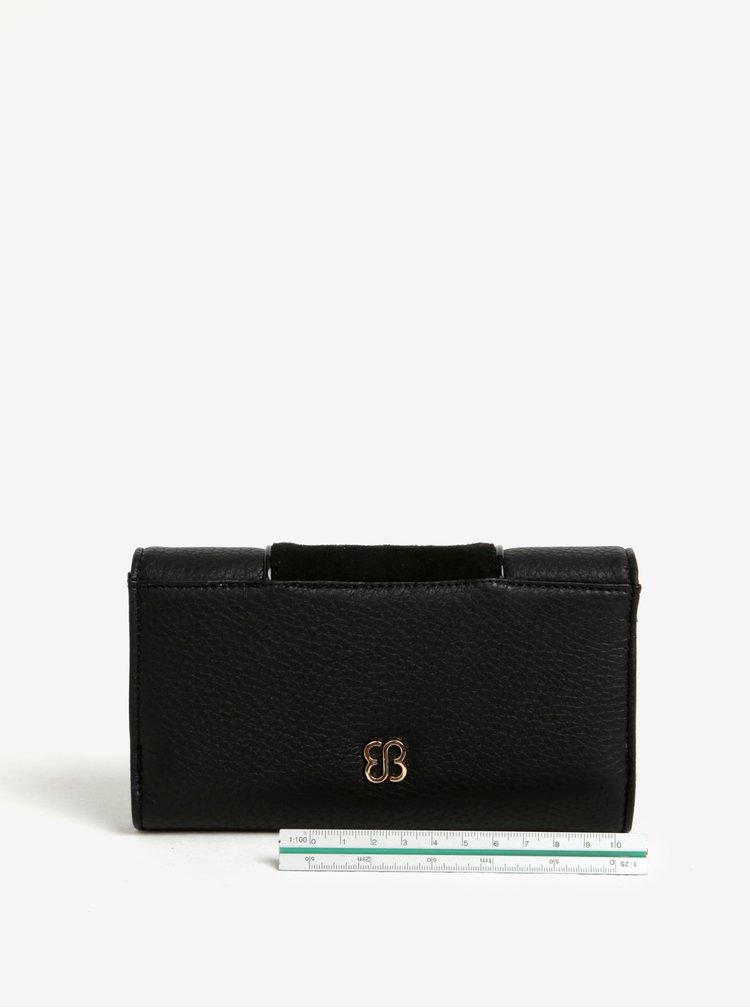 Černá peněženka s klopou Bessie London