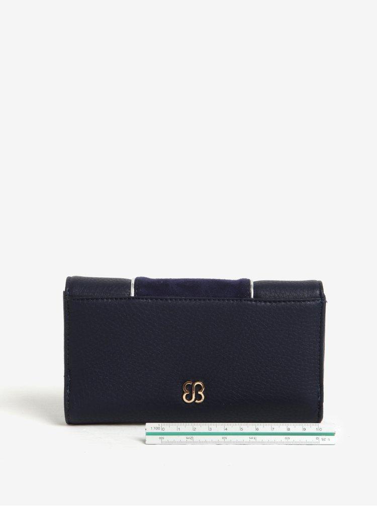 Tmavě modrá peněženka s klopou Bessie London